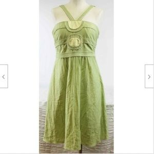 BCBGirls Max Med Green Summer Party Dress Casual S